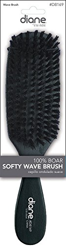 Diane #8169 100% Boar Softy Wave Brush, boar bristles, reinforced bristles, thick hair, long hair, short hair, all hair types, men and women, adults and kids, wood handle
