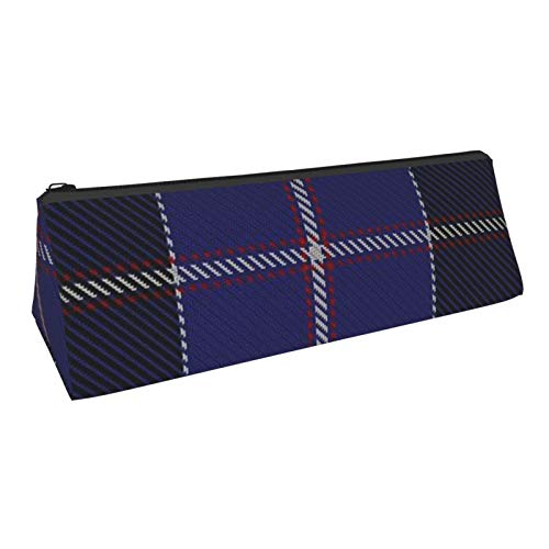 Triangle Pen Bag Dunlop Tartan Large Cosmetic Bags Storage Bags Stationery for Schools Students Offices Pen Pouch 8.6 X 3.1 Inch