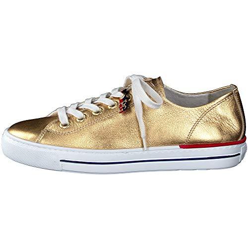 Paul Green Damen Sneaker Leder Gold Gr. 40