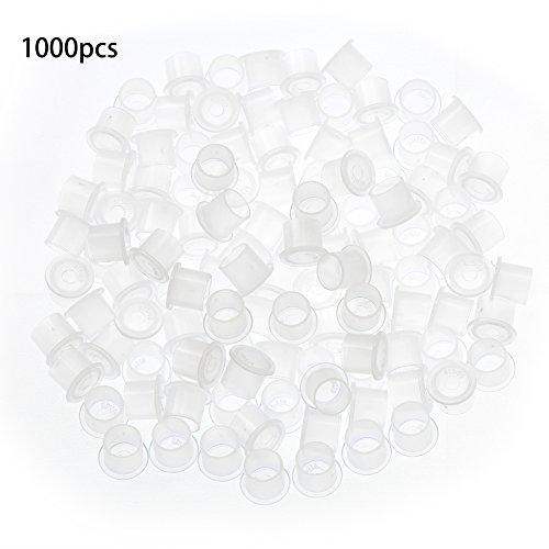 1000 piezas 11 mm vasos de contenedores de tinta tatuaje de plástico Microblading pigmento contenedor de tinta taza soporte de tinta para tatuaje Kit de tatuaje de cejas para tatuador