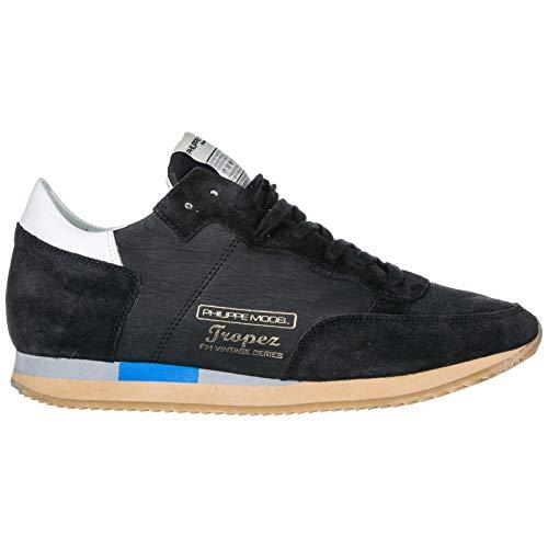 Philippe Model Herrenschuhe Herren Wildleder Sneakers Schuhe Tropez Schwarz EU 45 A18ITVLUWW10