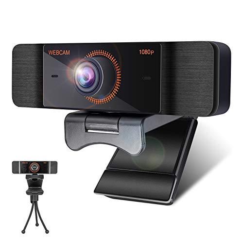 Webcam per PC con Microfono,1080P Full HD Webcam USB per PC Fisso,Laptop y Mac,USB 2.0 Videocamera per Videochiamate, Studio, Conferenza, Registrazione, Gioca a Giochi e Lavoro a Casa