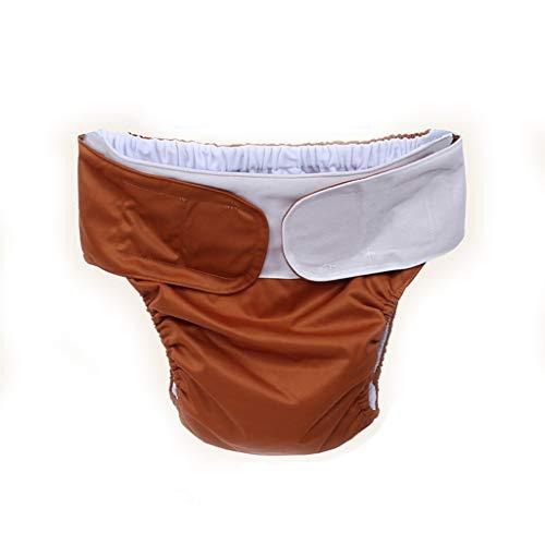 AUEDC Große Stoffwindel für Erwachsene, verstellbare Wiederverwendbare Windel für Inkontinenz bei Teenagern mit besonderen Bedürfnissen. Postoperative Pflege Fünf Farben,Braun