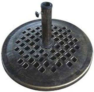 DC America UBP24241-BR 24-Inch Cast Stone Umbrella Base, Made from Rust Free Composite Materials, Bronze Powder Coated Finish
