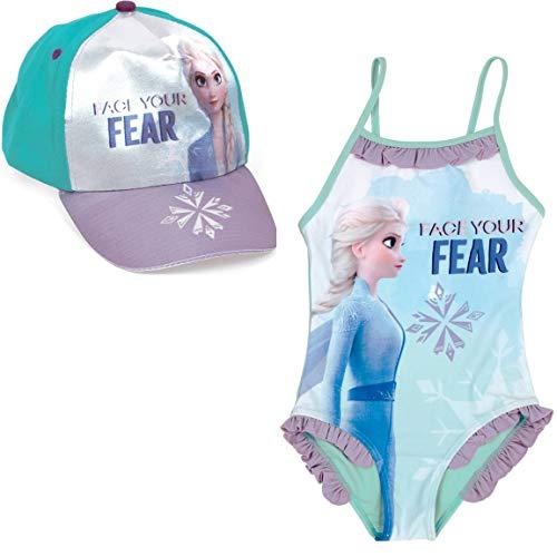 Disney Frozen Elsa meisjesbadpak + muts Elsa