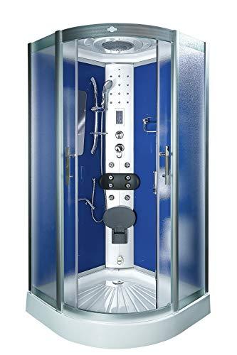 AcquaVapore DTP8046-1211 Dusche Duschtempel Komplett Duschkabine -Th. 90x90 JA mit 2K Scheiben Versiegelung