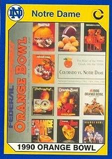 Autograph Warehouse 91309 56Th Orange Bowl Football Card Notre Dame 1990 Collegiate Collection No. 56