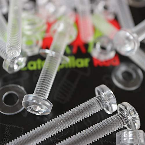 Paquete de 60 tornillos y tuercas, Arandelas, transparentes, de plástico acrílico. M4...