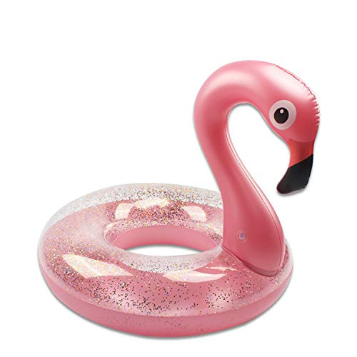 Boxgear Inflatable Float, Glitter Sequin Animal Pool Floats, Swimming Pool Ring, Pool Inflatables for Kids and Adults, Pool Toys Inflatable Flamingo Pool Float, Water Float (48 Inch)