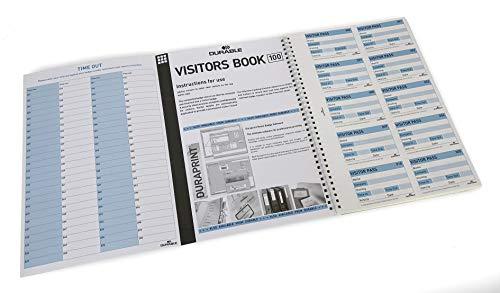 Durable 146465 Nachfüllsatz für Besucherbuch / Visitors Book 100 (englisch, für 100 Namensschilder)