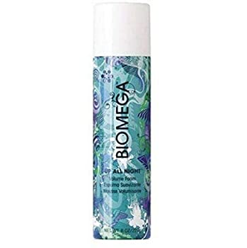 BIOMEGA Up All Night Volume Foam Mousse 8 Oz Firm-Flexible Hold Thickens Hair for Maximum Body Lift and Flexibility Infused with Omega-Rich Nutrients to Nourish Hair