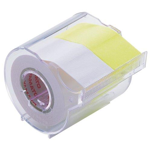 ヤマト 付箋 メモック ロールテープカッター付き 25mm×10m R-25CH-WL 白・レモン
