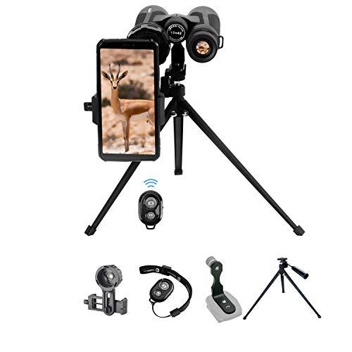 Tabletop Photographing Kit for Binoculars Monocular, Including 19-inch Tabletop Tripod, Binoculars Tripod Adapter, Binoculars Phone Adapter