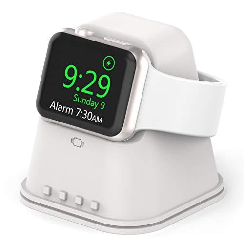 アップルウォッチスタンド 新型 Apple watch 6/SE充電スタンド Apple watch series SE/6/5/4/3/2/1適用 台形設計 より安定して傾倒防止 実用性が強い ホワイト