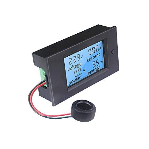 KETOTEK Voltmeter Amperemeter Digitaler AC 80-260V 100A Spannungsprüfer Stromzähler Leistungsmesser Energiemessgerät Volt Ampere Messgerät Meter LCD Multimeter mit CT Stromwandler