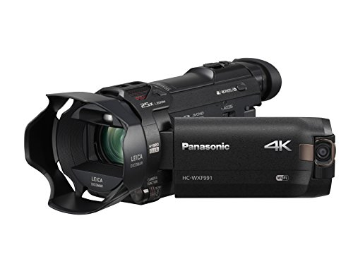 Panasonic 4K Cinema-Like Video Camera Camcorder HC-WXF991K, 20X Leica DICOMAR Lens, 1/2.3' BSI Sensor, 5-Axis Hybrid O.I.S, HDR Mode, EVF, WiFi, Multi Scene Video Recording (Black)