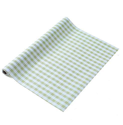 LOKIH Plastico Protector para Cocina Cajones Alfombras Non Adhesivo para Nevera Mueble Fregadero Estante Organizador Cubiertos,Rejilla Verde,60x500cm