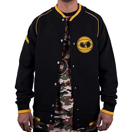 WU Wear Basketball Sweat-Jacket, Urban Streetwear Veste Ville, Hip Hop Blouson, Veste Homme, Noir Taille S, Couleur Black