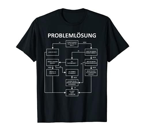 Herren Problemlösung T-Shirt Funshirt für Männer Herren Sprüche T-Shirt