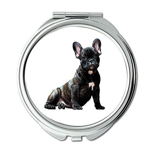 Spiegel, Reisespiegel, Hund Bulldog Smart Look Haustiere Der Beste Freund des Mannes, Taschenspiegel, tragbarer Spiegel