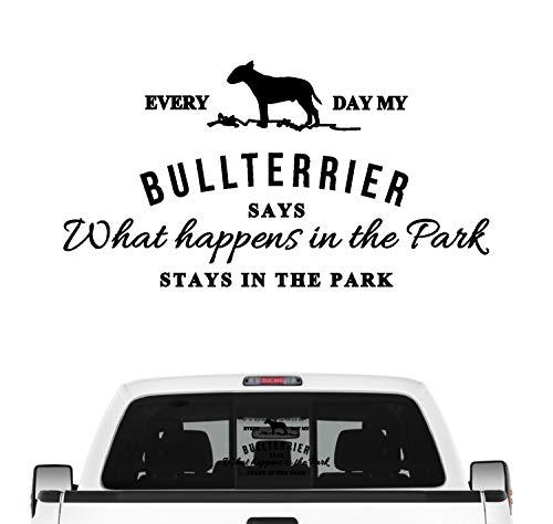 Siviwonder Bullterrier Aufkleber Vintage Hundeaufkleber Folie Bully Bull Terrier Gladiator Farbe Schwarz, Größe 45cm