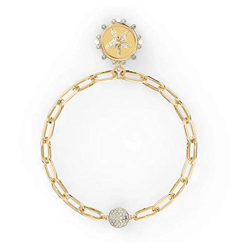 Swarovski The Elements Star 5572644 - Pulsera chapada en Oro (17,3/2,7 x 1,9 cm), Color Blanco
