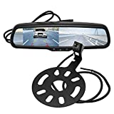 """RED WOLF Spare Tire Rear View Backup Camera with 4.3 """" Anti-Glare Rverse Mirror LCD Monitor Display Mount Kit Fit Jeep Wrangle 2007-2018, Jeep Sahara JK 2010-2018 with Removable Guidelines"""