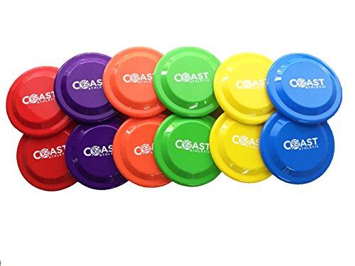 Coast Athletic Flying Disk Super Set | Flying Discs | Disc Golf Set (12 Pack)