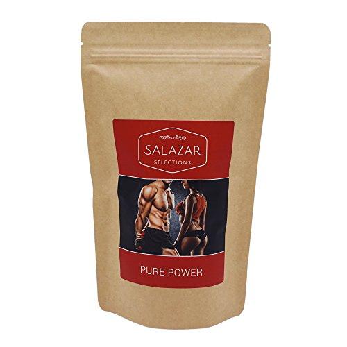 Salazar Pure Power 150g | Fitness Tee | Power-Up nach dem Workout | Sencha, Ginkgo, Himbeerblätter, Goji, Ingwer | Energy Tea | Green Tea