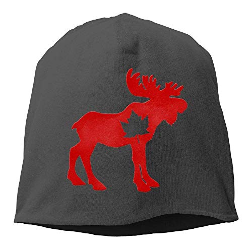 NA Happy Canada Day Elch Maple Leaf Winter Beanie Skull Cap Warm Knit Ski Slouchy Hat Durable