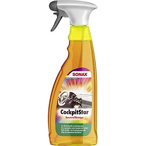 SONAX CockpitStar (750 ml) reinigt und pflegt alle Kunststoffteile im Auto, antistatisch und staubabweisend | Art-Nr. 02494000