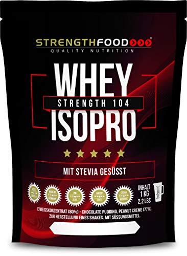Whey Protein Isolate Schoko - Stevia und Xylit gesüßt - Low Carb Instant Eiweiss Shake (Schoko 1000g)