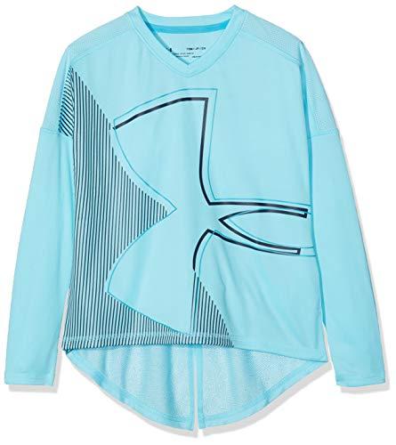 Under Armour Tech - Camiseta de manga larga para niña, niña, 1322275-448, Venetian Blue/Deceit, Para jóvenes XS