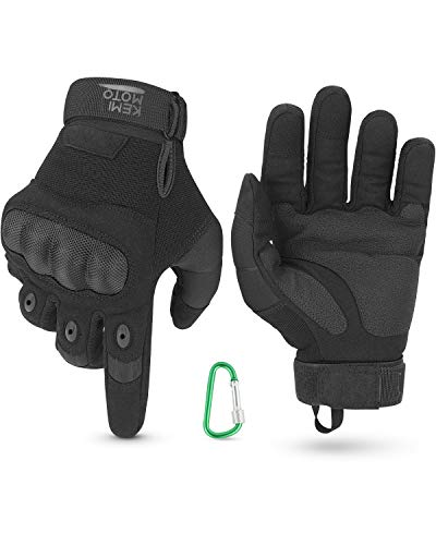 Guantes de Moto, Guantes de Pantalla Táctil para Hombre y Mujeres con Duro Proteccion Guantes de Motocicleta ATV Guantes de Dedo Completo Transpirables