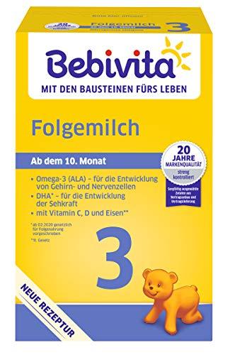 Bebivita 3 Folgemilch - ab dem 6. Monat, 4er Pack (4 x 500g)