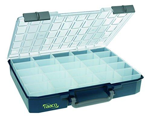 raaco 138550 Sortimentskoffer CarryLite 80 5x10-25, dunkelblau