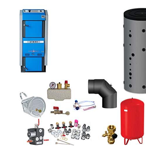 Atmos GSX70 Scheitholzvergaser/Holzvergaser 70 kW Komplettset 2