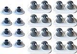 Youery 16 pezzi Ruote Pivontanti Per Mobili,Ruote Girevoli in Plastica,Ruote Autoadesive,Ruote Girevoli e Mobili Facile da Installare Per Scatola di Immagazzinaggio Scarpiera DIY
