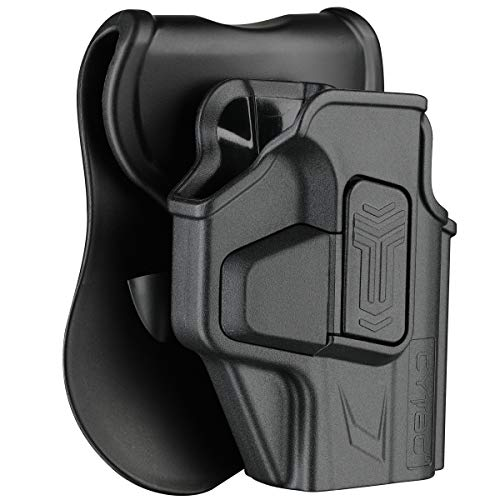 Hellcat Holsters, OWB Holster for Springfield Armory Hellcat 9mm Micro-Compact 3' - Index Finger Released | Adjustable Cant | Autolock | Outside Waistband | Silicone Pad Paddle | Matte Finish -RH