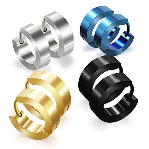 Stainless Steel Hoop Earrings For M…