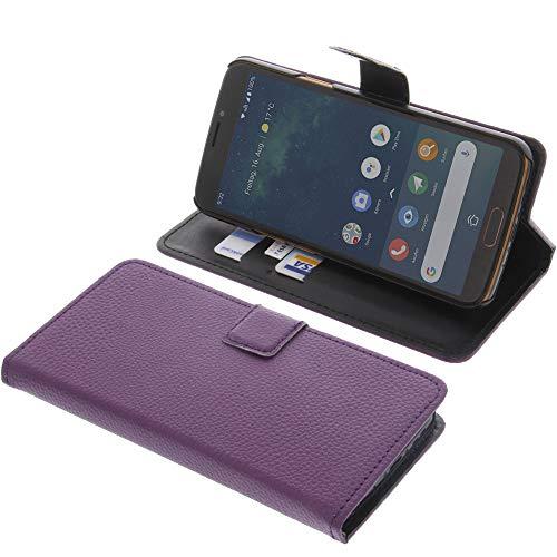 Tasche für Doro 8080 Book Style lila Kreditkarte Schutz Hülle Buch