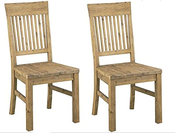 Modus Furniture 8FM266 Autumn Solid Wood Dining Chair 2 Pack