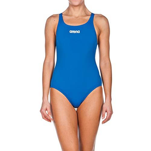 arena Damen Sport Badeanzug Solid Swim Pro (Schnelltrocknend, UV-Schutz UPF 50+, Chlorresistent), Royal-White (72), 42