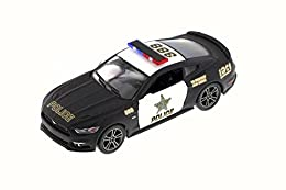 "1:38 scale diecast collectible model car This Ford is a 5""Lx 2""Wx 1.5""H die cast metal car, pull back action openable doors Manufactured by Kinsmart Black"