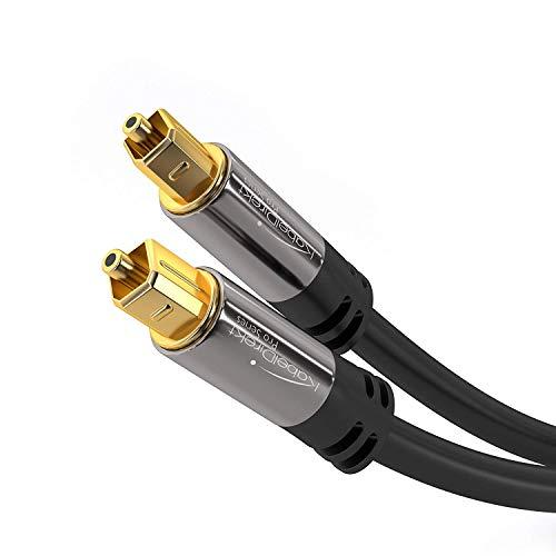 KabelDirekt - Optisches Kabel/Toslink Kabel - 3m - (optisches Digitalkabel Toslink auf Toslink, Audiokabel zur Verbindung von Soundbar, Stereoanlage, Heimkino, Xbox One & PS4) - PRO Series