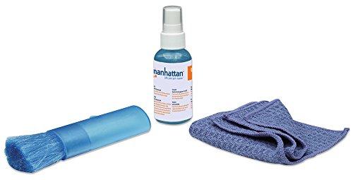 Manhattan LCD Cleaning Kit alcoholvrij inclusief reinigingsoplossing en antimicrobiële reinigingsdoek