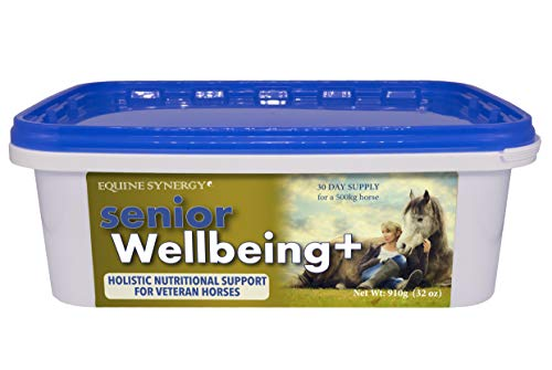 Equine Synergy Senior Wellbeing + For the Best Health & Condition In Your Aging Horse, With Nutrients Critical for Veterans