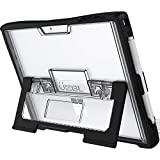 UZBL Microsoft Surface Pro 7 (2019 Release) / Surface Pro 6 Laptop Case, Heavy Duty Protective Design with Rubberized Corners, Built-in Stand and Stylus Pen Holder