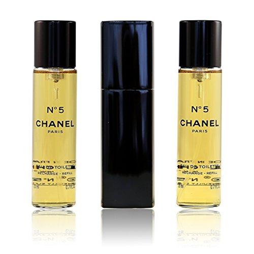 Chanel No 5 Eau de Toilette Purse Spray 3 x 20ml