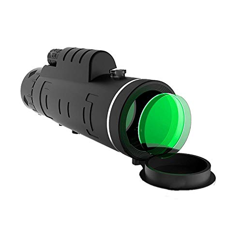 Telescopio monocular binoculares, monocular compacto HD de alta potencia 40x60 para adultos y niños, visor nocturno resistente al agua con soporte para teléfono inteligente y trípode para teléfon